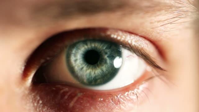 Human eye blinking video