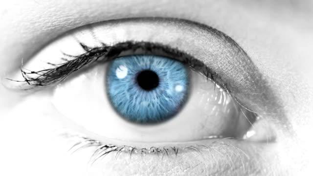 Human Eye. Blue/green. White/regular skin. video