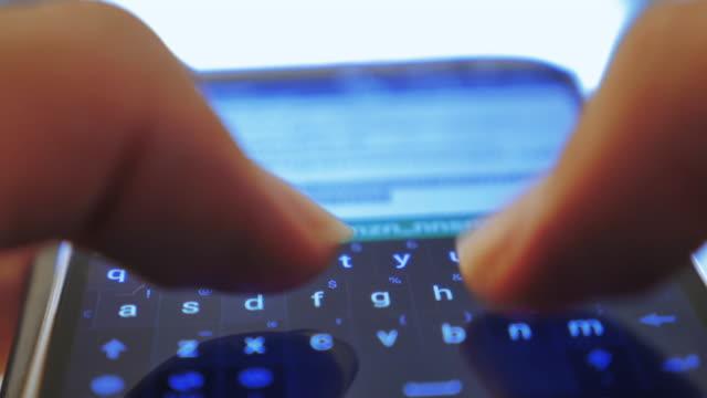 Human finger typing on virtual keyboard,Close up