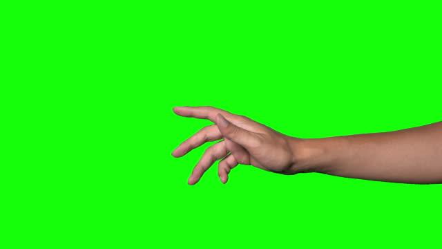 stockvideo's en b-roll-footage met menselijke hand op groene achtergrond. - hand pointing