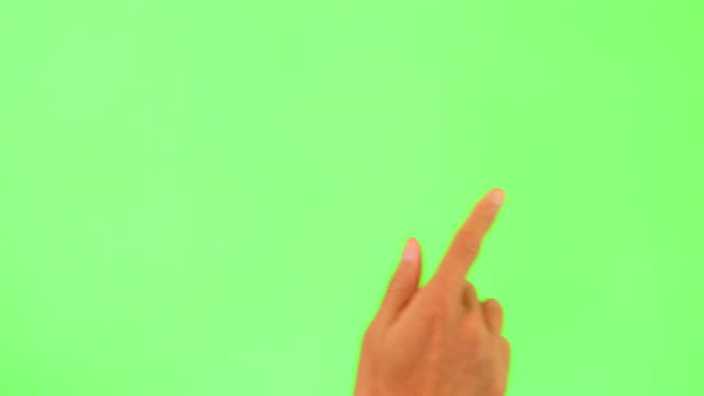 Human hand touching green Screen Human hand touching green Screen finger stock videos & royalty-free footage