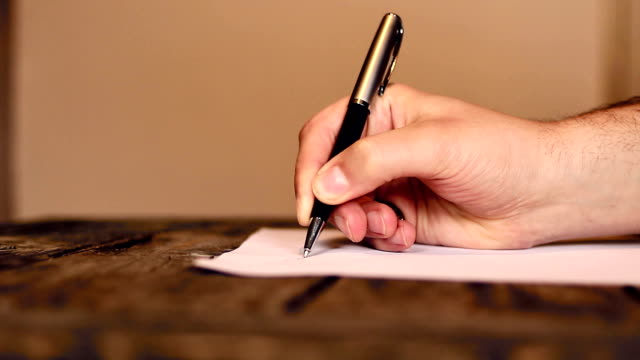 Royalty free ballpoint pen hd video 4k stock footage b roll istock human hand writing a letter video altavistaventures Images