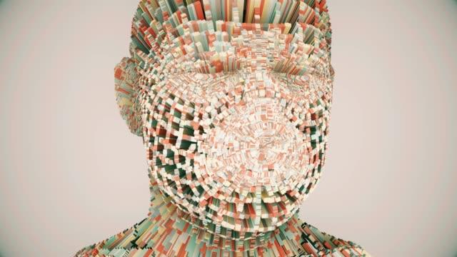 Human Head multi-layer animation video