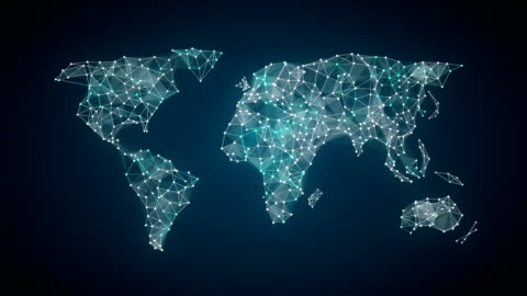 human icon connect global world map, dot makes global communication. social media network. 3. human icon connect global world map, dot makes global communication. social media network. computer network stock videos & royalty-free footage