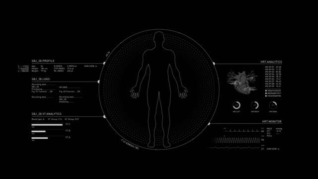 人間の医療 hud アニメーション - 心臓点の映像素材/bロール
