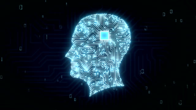 human shape chip circuit board, grow artificial intelligence. 4k movie - ai stock videos & royalty-free footage