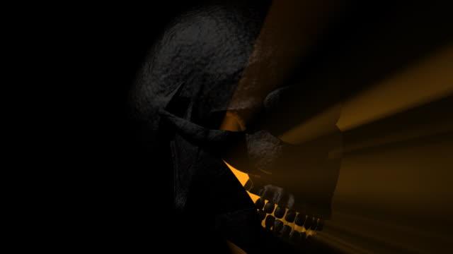 Human Skull Glowing Light Rays video
