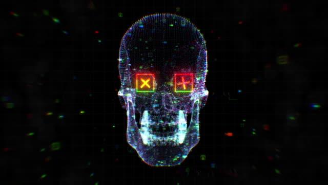 Human Skull VJ Bakgrund video