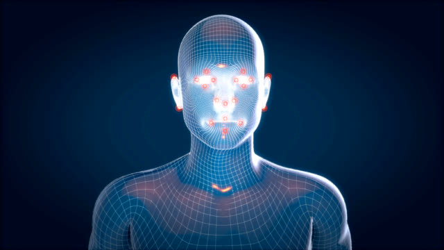 Human xray, human anatomy facial recognition, 3D Animated video