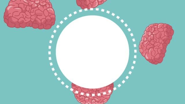 vídeos de stock e filmes b-roll de humans brain round frame hd animation - cerebelo
