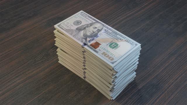 Hundred Dollars pile Hundred Dollars pile debt stock videos & royalty-free footage