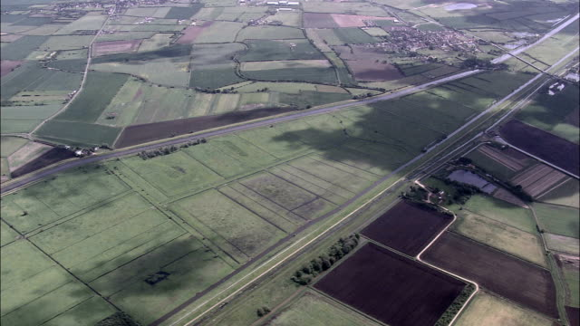 Hundred Foot Washes  - Aerial View - England,  Cambridgeshire,  Fenland District helicopter filming,  aerial video,  cineflex,  establishing shot,  United Kingdom video