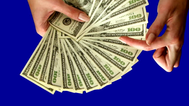 Hundreds Fan of hundred dollar banknotes. handful stock videos & royalty-free footage