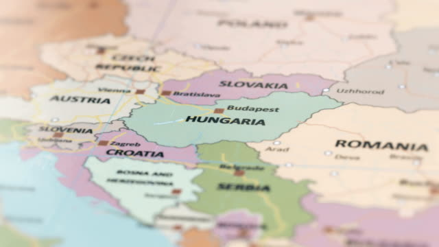 Europe Hungaria On World Map Stock Video More Clips Of 4k