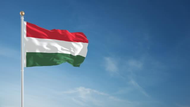 4 K Ungarische Flagge-Schleifen einsetzbar – Video