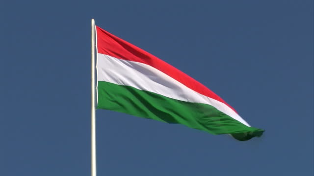 Hungarian flag Hungary -  flag hungary stock videos & royalty-free footage