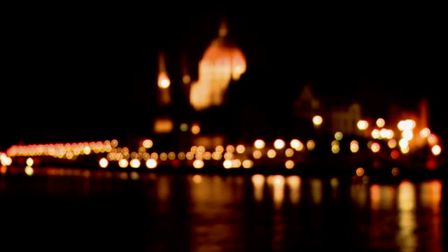Hungarian Parliament at night, Budapest video