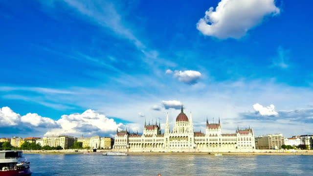 Hungarian Parliament Building in Budapest, Hungary video