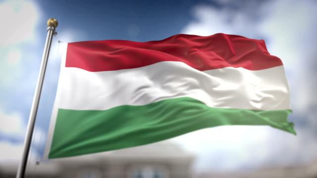 Hungary Flag Waving Slow Motion 3D Rendering Blue Sky Background - Seamless Loop 4K Hungary Flag Waving Slow Motion 3D Rendering Blue Sky Background - Seamless Loop 4K hungary stock videos & royalty-free footage
