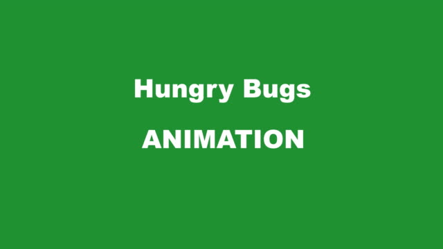 stockvideo's en b-roll-footage met hungry bugs transition kit l/r all green mini - worm