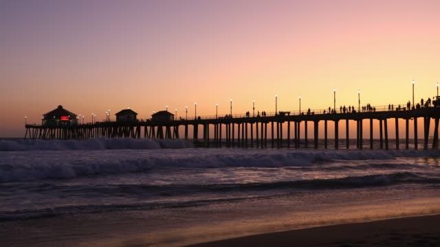 Huntington Beach Pier in California - Los Angeles - video