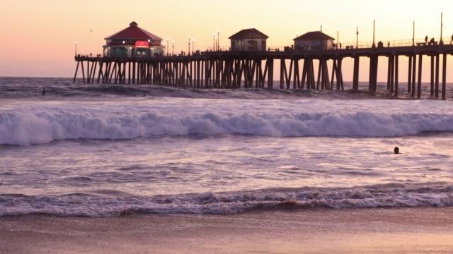 Huntington Beach Pier in California - Los Angeles video