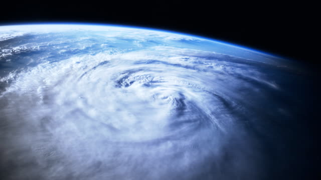 Hurricane as seen from space. video
