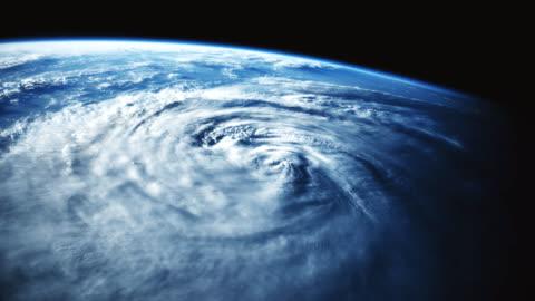 uragano visto dallo spazio. - copy space video stock e b–roll