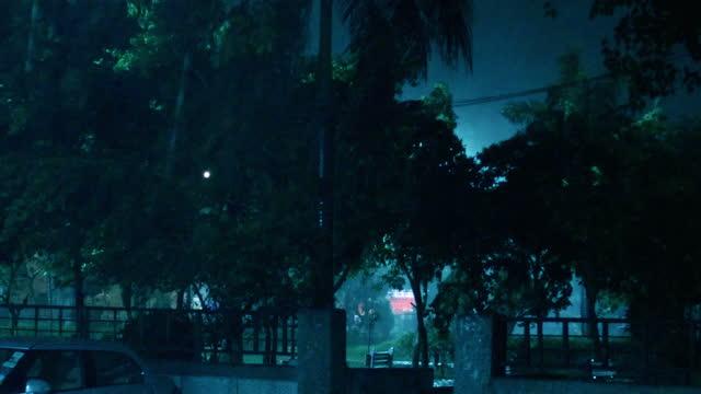 Hurricane during rainy season video