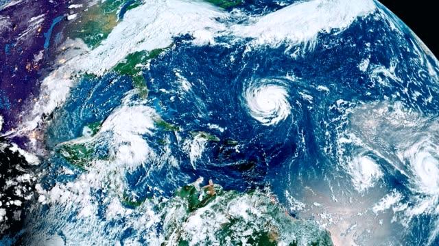 ハリケーン フィレンツェ嵐、竜巻 - 気象学点の映像素材/bロール
