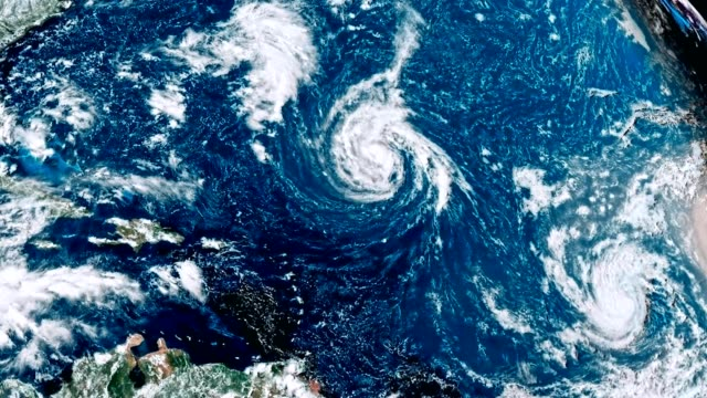 hurricane florence storm, tornado - clima video stock e b–roll