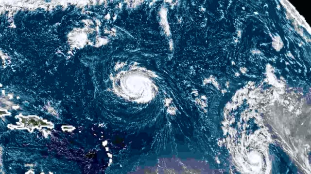 Hurricane Florence Storm, Tornado Hurricane Florence, storm, tornado, satellite view. Elements of this image furnished by NASA meteorology stock videos & royalty-free footage