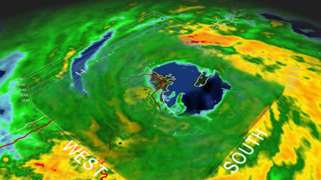 1998 Hurricane Georges 3D Eye Puerto Rico Hurricane Georges 1998 Puerto Rico Landfall. Depicts a 3D