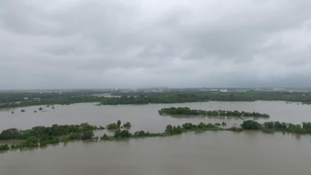 Hurricane Harvey flooding near Houston Texas video
