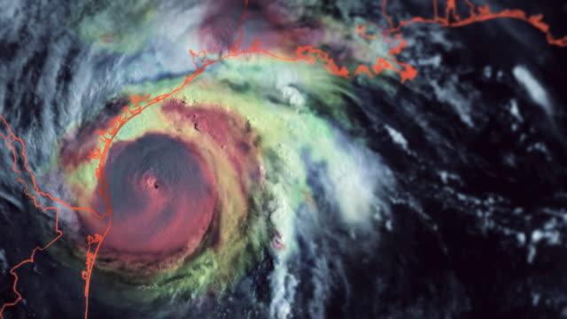 Hurricane Harvey. (Unique radar composite) video