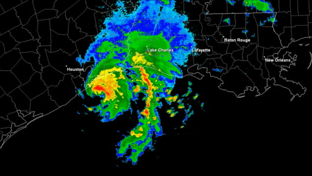 Hurricane Humberto (2007) Landfall Time Lapse video