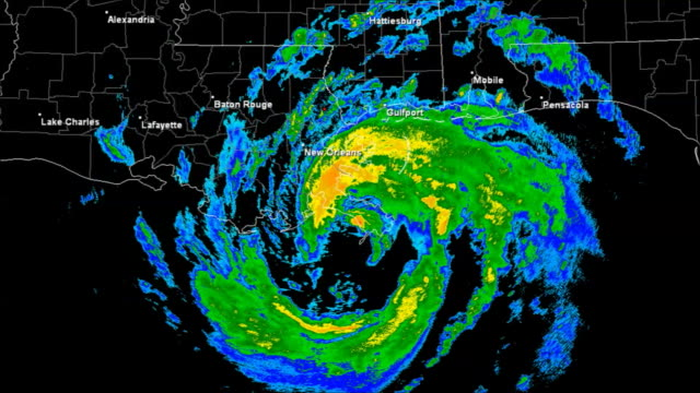 Hurricane Isaac (2003) Landfall Time Lapse video