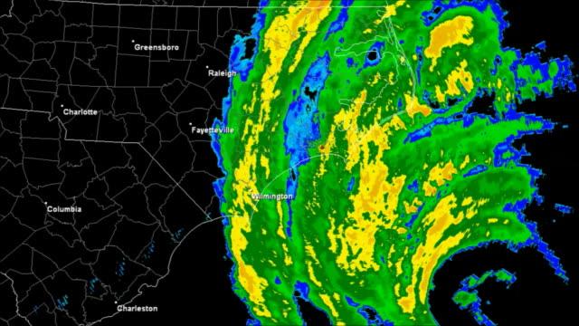 Hurricane Isabel (2003) Landfall Time Lapse video