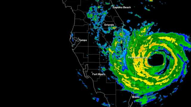 Hurricane Jeanne (2004) Landfall Time Lapse video