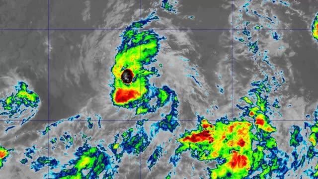 hurricane kiko band 11 2019 - uragano video stock e b–roll