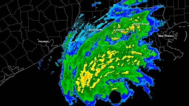 Hurricane Rita (2005) Landfall Time Lapse video