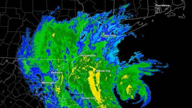 Hurricane Sandy (2012) Landfall Time Lapse video