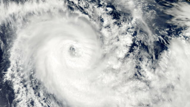 Hurricane Storm, over the earth, satellite view. video