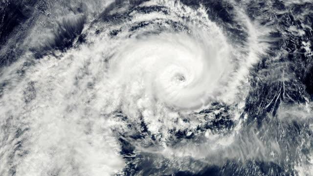 Hurricane Storm, satellite view. video