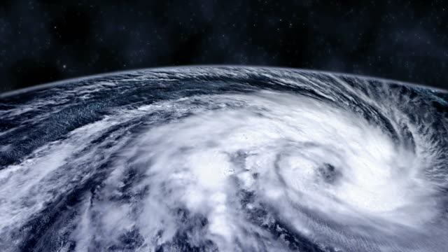 hurricane storm tornado over the earth from space, satellite view. - golden ratio стоковые видео и кадры b-roll