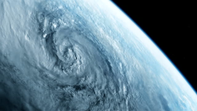 Hurricane viewed from space video