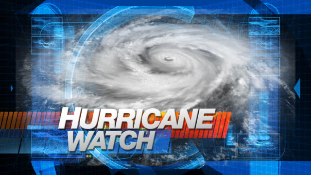 Hurricane Watch - Title Graphics video