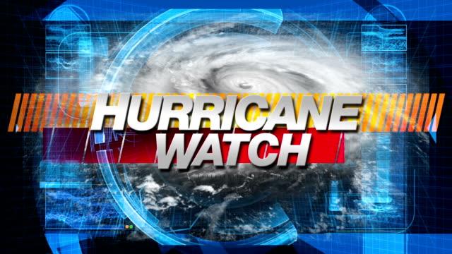 stockvideo's en b-roll-footage met hurricane watch - title graphics - waarschuwingssignaal