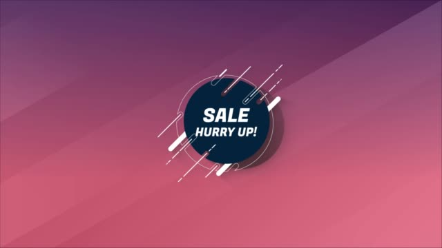 Hurry Up call to action text with thin line flying objects on colorful background. Hurry Up call to action text with thin line flying objects on colorful background. Animated loop. housing logo stock videos & royalty-free footage