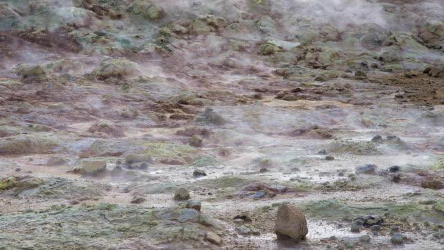 Hverir Namafjall geothermal area in Iceland video